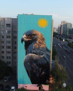 Роспись фасада Астана Казахстан