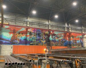 Роспись завода в Сургуте