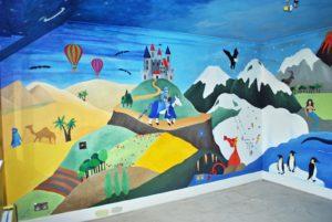 Роспись в детском саду