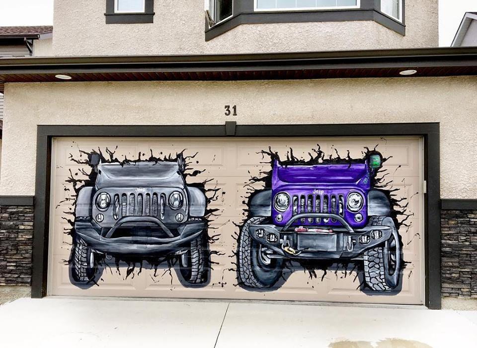 Граффити в гараже