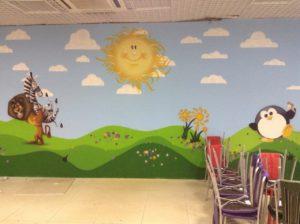 Роспись стен детского сада