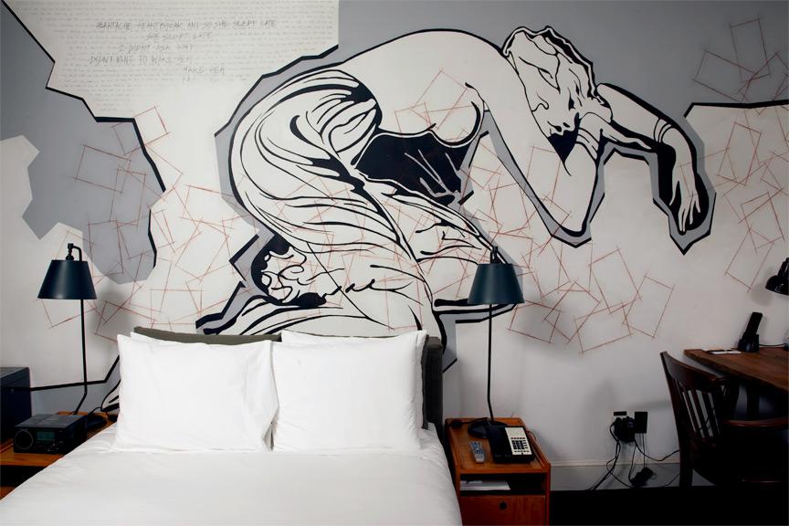 Оформление стен граффити