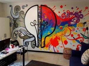 Идеи оформления стен рисунками