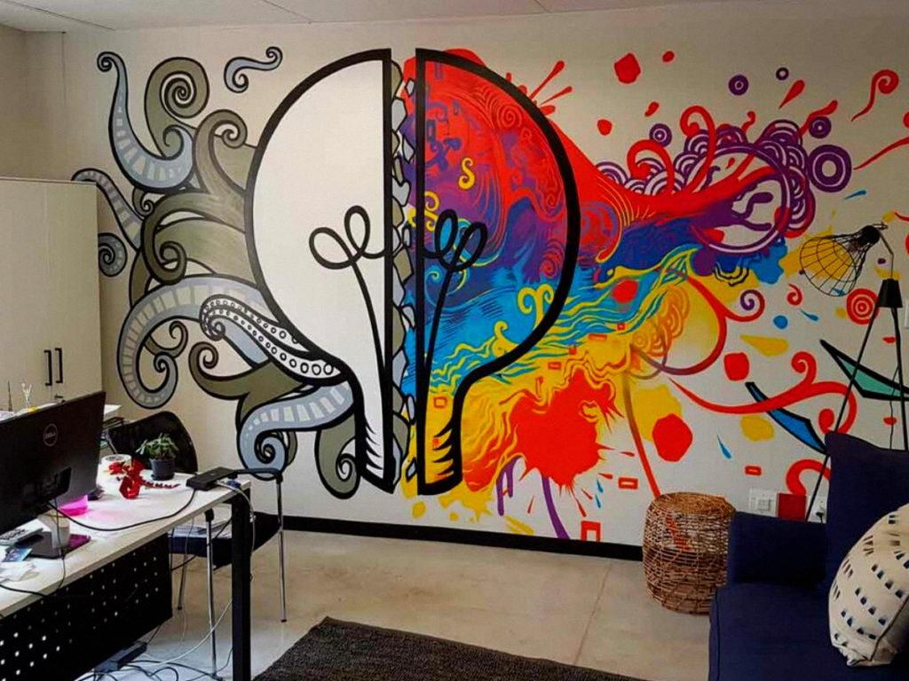 Идеи рисунков на стену