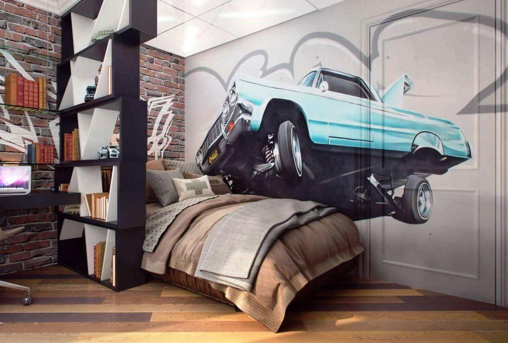 Комната в стиле граффити